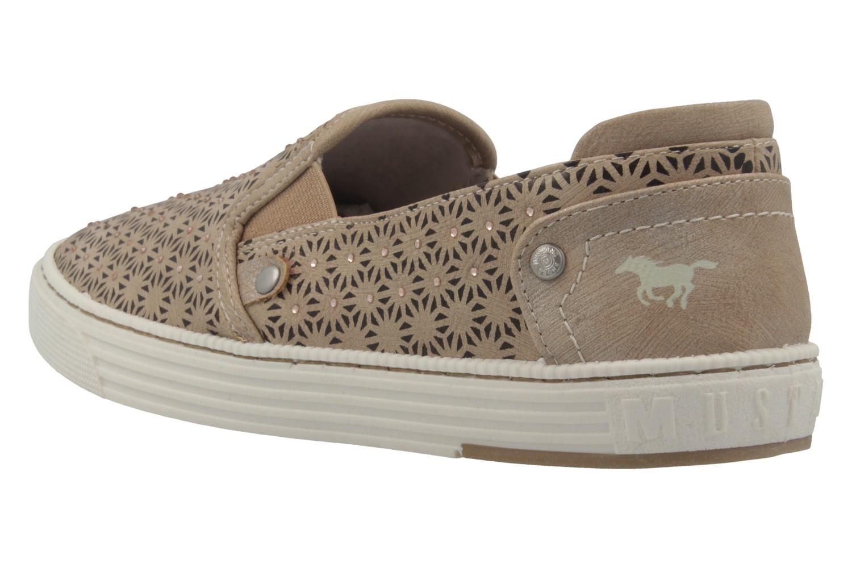 MUSTANG - Damen Slipper - Taupe Schuhe in Übergrößen – Bild 2
