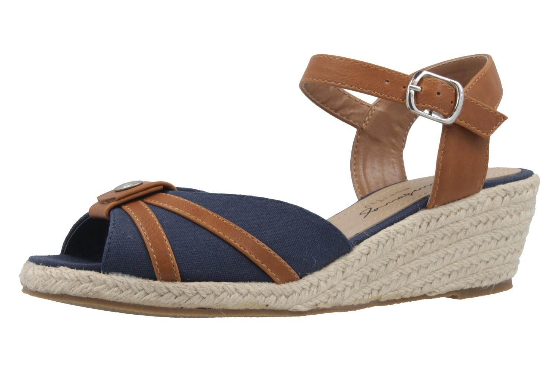 MUSTANG - Damen Keil-Sandaletten - Blau Schuhe in Übergrößen – Bild 1