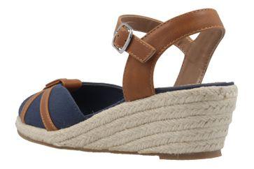 MUSTANG - Damen Keil-Sandaletten - Blau Schuhe in Übergrößen – Bild 2