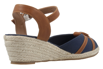 MUSTANG - Damen Keil-Sandaletten - Blau Schuhe in Übergrößen – Bild 3