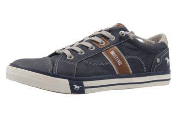 Mustang Shoes Halbschuhe in Übergrößen Blau 4072-301-800 große Herrenschuhe – Bild 1