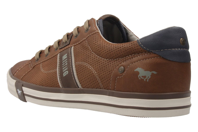 Mustang Shoes Sneaker in Übergrößen cognac 4072-301-307 große Herrenschuhe – Bild 2