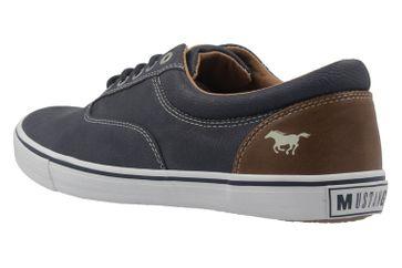 Mustang Shoes Sneaker in Übergrößen blau 4101-303-800 große Herrenschuhe – Bild 2