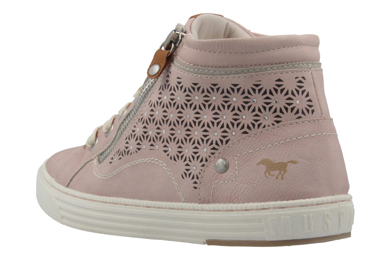 MUSTANG - Damen High Top Sneaker - Rosa Schuhe in Übergrößen – Bild 2