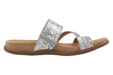 GABOR - Damen Pantoletten - Glitter Silber Schuhe in Übergrößen – Bild 4