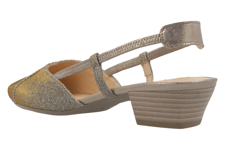 GABOR - Damen Slingback Pumps - Platin Schuhe in Übergrößen – Bild 2