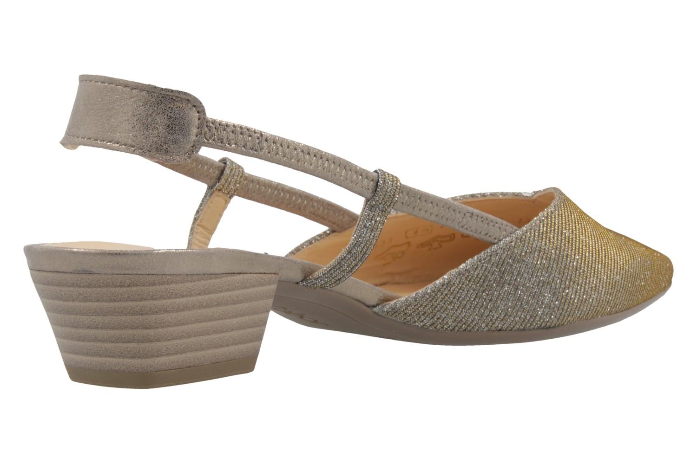 GABOR - Damen Slingback Pumps - Platin Schuhe in Übergrößen – Bild 3