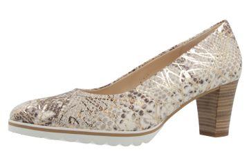 GABOR comfort - Damen Pumps - Grau/Gold Schuhe in Übergrößen – Bild 1