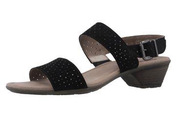 Gabor Sandaletten in Übergrößen Schwarz 64.542.17 große Damenschuhe