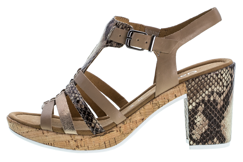 GABOR comfort - Damen Sandaletten - Beige Schuhe in Übergrößen – Bild 1