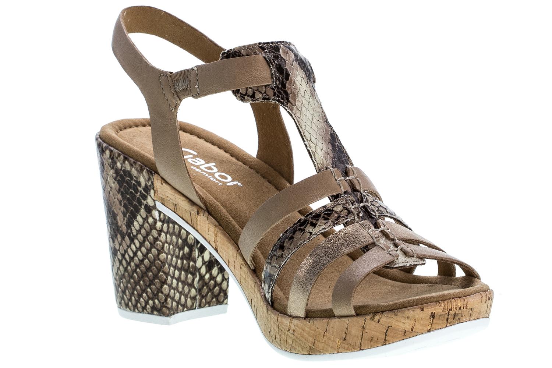 GABOR comfort - Damen Sandaletten - Beige Schuhe in Übergrößen – Bild 5