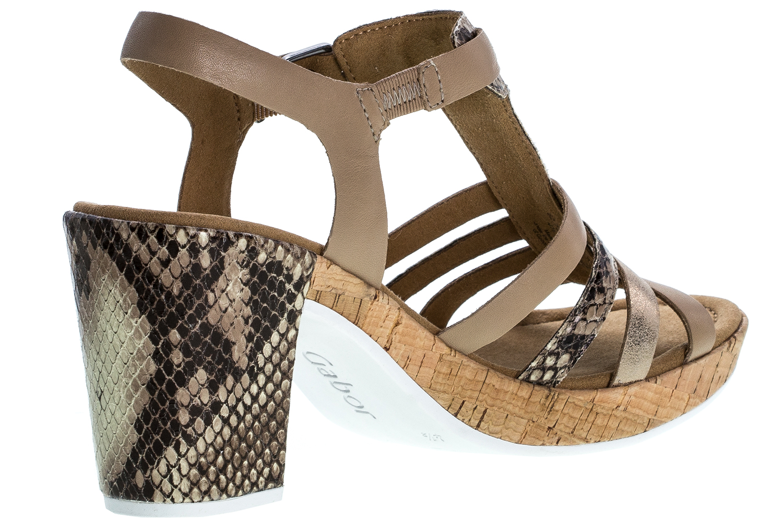 GABOR comfort - Damen Sandaletten - Beige Schuhe in Übergrößen – Bild 3