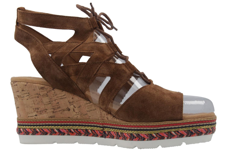 GABOR comfort - Damen Keil-Sandaletten - Braun Schuhe in Übergrößen, Größe:42