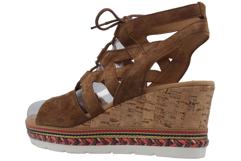 GABOR comfort - Damen Keil-Sandaletten - Braun Schuhe in Übergrößen – Bild 2