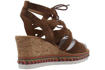 GABOR comfort - Damen Keil-Sandaletten - Braun Schuhe in Übergrößen – Bild 3