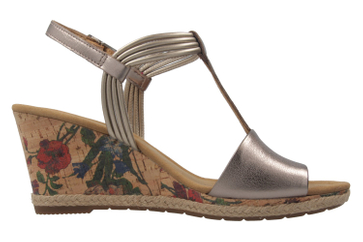 GABOR comfort - Damen Keil-Sandaletten - Bronze Schuhe in Übergrößen – Bild 4