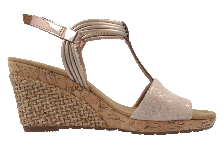 GABOR comfort - Damen Keil-Sandaletten - Rosa Schuhe in Übergrößen – Bild 4