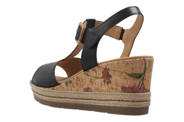 GABOR comfort - Damen Keil-Sandaletten - Schwarz Schuhe in Übergrößen – Bild 2