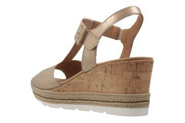 GABOR comfort - Damen Keil-Sandaletten - Gold Schuhe in Übergrößen – Bild 2