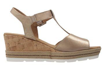 GABOR comfort - Damen Keil-Sandaletten - Gold Schuhe in Übergrößen – Bild 4