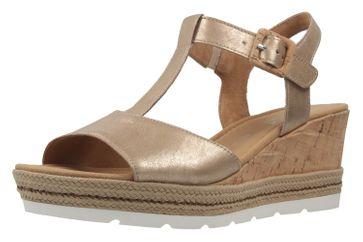 GABOR comfort - Damen Keil-Sandaletten - Gold Schuhe in Übergrößen – Bild 1