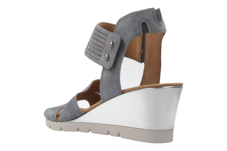 GABOR comfort - Damen Keil-Sandaletten - Grau Schuhe in Übergrößen – Bild 2