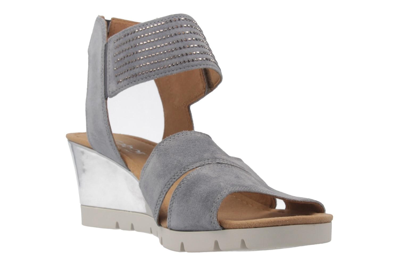 GABOR comfort - Damen Keil-Sandaletten - Grau Schuhe in Übergrößen – Bild 5