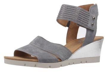GABOR comfort - Damen Keil-Sandaletten - Grau Schuhe in Übergrößen – Bild 1