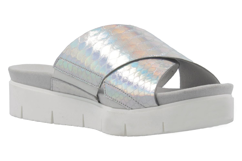 GABOR comfort - Damen Pantoletten - Silber Schuhe in Übergrößen – Bild 5