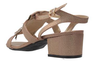 ANDRES MACHADO - Damen Sandaletten - Gold Schuhe in Übergrößen – Bild 2