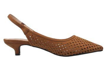 ANDRES MACHADO - Damen Slingback Pumps - Braun Schuhe in Übergrößen – Bild 4
