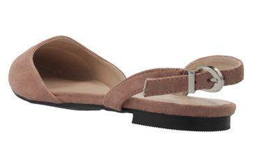 ANDRES MACHADO - Damen Slingback Ballerinas - Nude Schuhe in Übergrößen – Bild 2