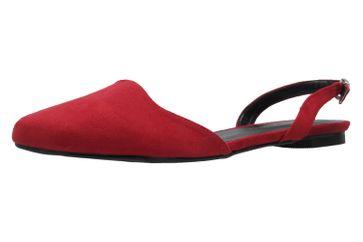 ANDRES MACHADO - Damen Slingback Ballerinas - Rot Schuhe in Übergrößen – Bild 1