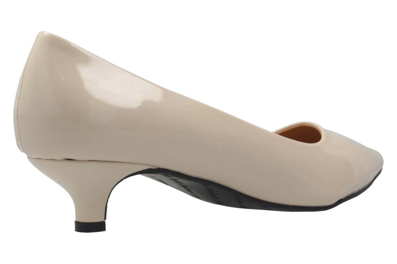 ANDRES MACHADO - Damen Pumps - Lack Beige Schuhe in Übergrößen – Bild 3