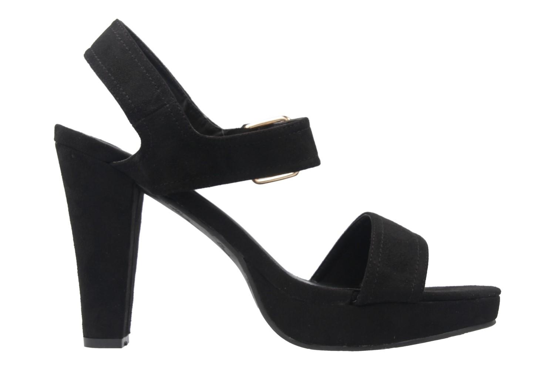 Andres Machado Sandaletten in Übergrößen Schwarz AM5166 Ante Negro große Damenschuhe – Bild 4