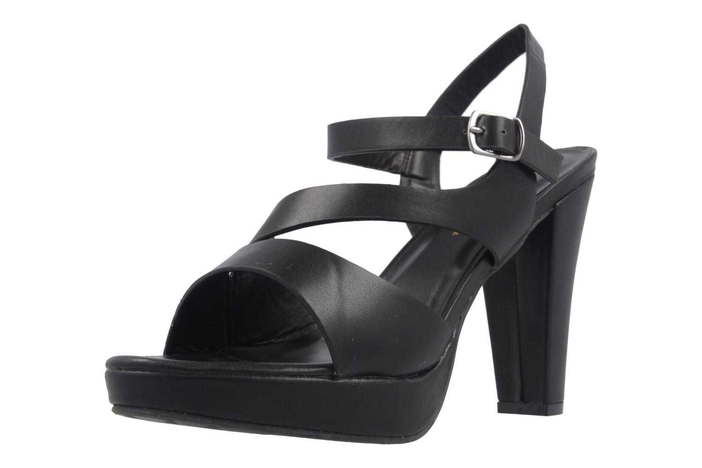 Andres Machado Sandalette in Übergrößen Schwarz AM5157 Soft Negro große Damenschuhe – Bild 1