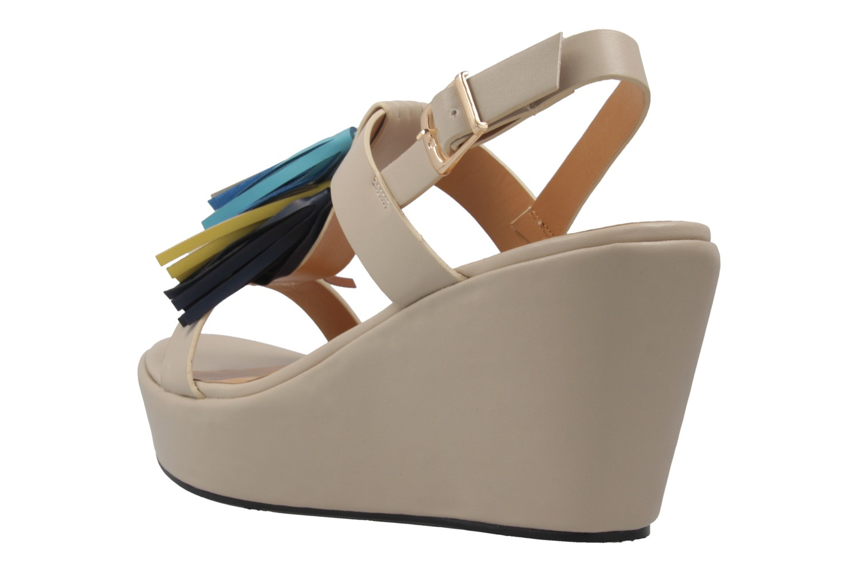 ANDRES MACHADO - Damen Keil-Sandaletten - Beige Schuhe in Übergrößen – Bild 2