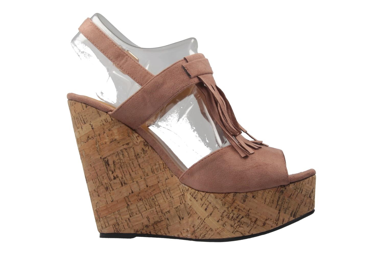 ANDRES MACHADO - Damen Keil-Sandaletten - Nude Schuhe in Übergrößen – Bild 4