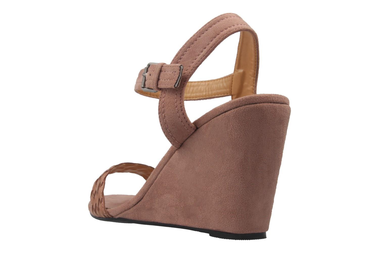 ANDRES MACHADO - Damen Keil-Sandaletten - Nude Schuhe in Übergrößen – Bild 2