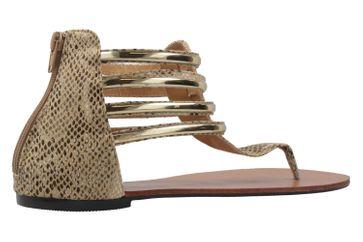 ANDRES MACHADO - Damen Zehentrenner - Beige Schuhe in Übergrößen – Bild 3