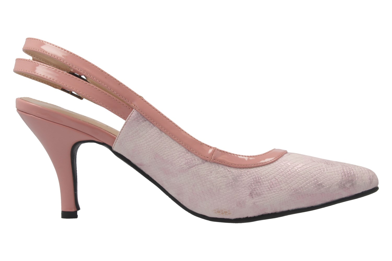 ANDRES MACHADO - Damen Slingback Pumps - Rosa Schuhe in Übergrößen – Bild 4