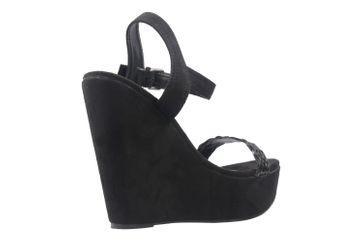 ANDRES MACHADO - Damen Keil-Sandaletten - Schwarz Schuhe in Übergrößen – Bild 3