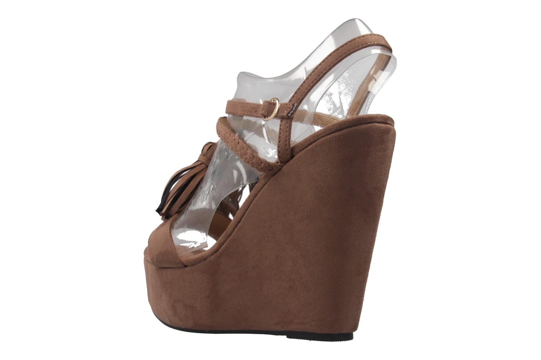 ANDRES MACHADO - Damen Keil-Sandaletten - Braun Schuhe in Übergrößen – Bild 2