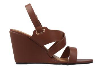 ANDRES MACHADO - Damen Keil-Sandaletten - Braun Schuhe in Übergrößen – Bild 4