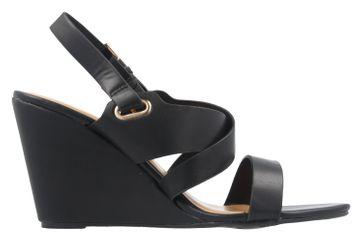 ANDRES MACHADO - Damen Keil-Sandaletten - Schwarz Schuhe in Übergrößen – Bild 4