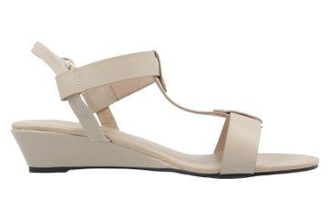 ANDRES MACHADO - Damen Keil-Sandaletten - Beige Schuhe in Übergrößen – Bild 4