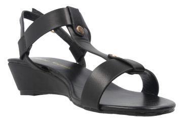 ANDRES MACHADO - Damen Keil-Sandaletten - Schwarz Schuhe in Übergrößen – Bild 5