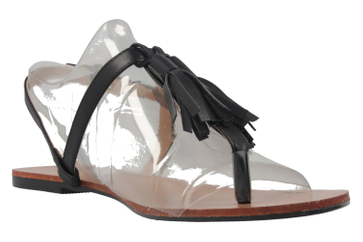 Andres Machado Zehentrenner in Übergrößen Schwarz AM5145 Soft Negro große Damenschuhe – Bild 5