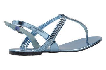 ANDRES MACHADO - Damen Zehentrenner - Lack Blau Schuhe in Übergrößen – Bild 3