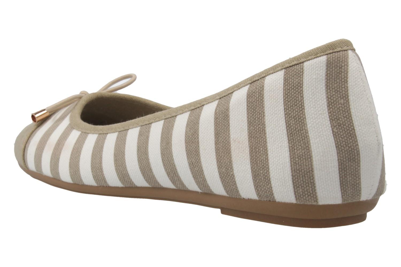 Fitters Footwear Ballerinas in Übergrößen Beige 2.514343 Taupe/White große Damenschuhe – Bild 2